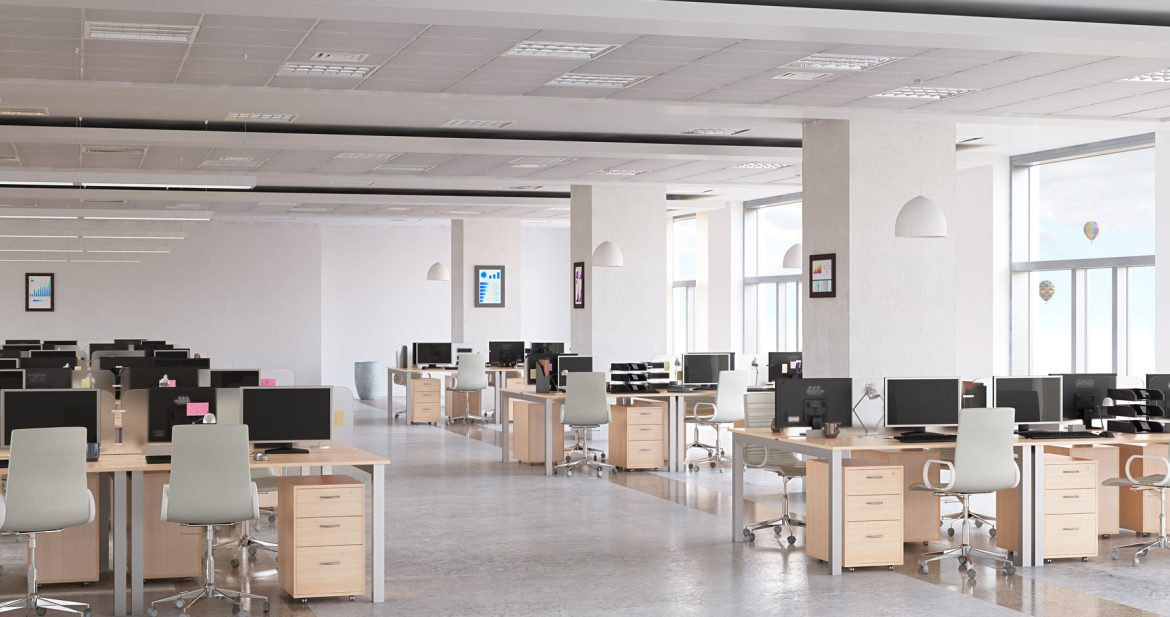 Modern empty office interior as design sample